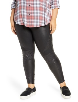 Quilted Faux Leather Leggings by Spanx®
