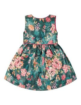 Mini Club All Dressed Up Green Floral Dress by Mothercare