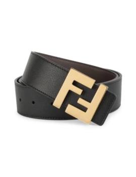 Ff Logo Leather Belt by Fendi