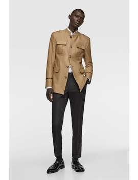 Uniformjacke Mit Taschen by Zara