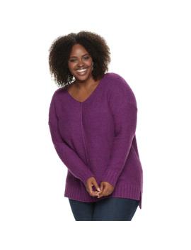 Plus Size Sonoma Goods For Life™ V Neck Pullover Sweater by Sonoma Goods For Life