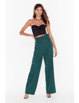 Follow Suit Wide Leg Pants by Nasty Gal