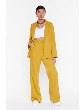 Whatever Suits High Waisted Wide Leg Pants by Nasty Gal