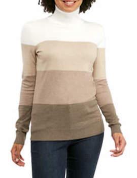 Women's Ombre Stripe Turtleneck Sweater by Calvin Klein