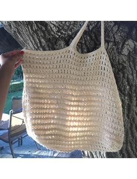 Adorable Crochet Shoulder Beach Bag From Mango by Depop