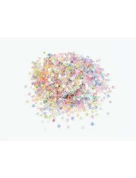 Translucent Iridescent Pastel Rainbow Stars Shape Glitter, 3mm Star Mix by Etsy