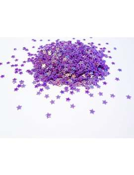Holographic Iridescent Violet Purple Stars Shape Glitter, 2mm Stars, Tiny Star Glitter by Etsy