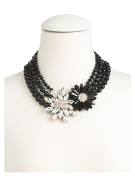 4 Row Crystal Flower Necklace by Tj Maxx