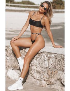 Soaked Bikini Top Black by White Fox