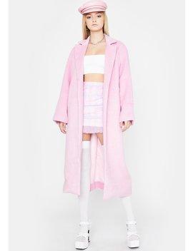 Sweet Ivy League Habits Faux Fur Coat by Dolls Kill