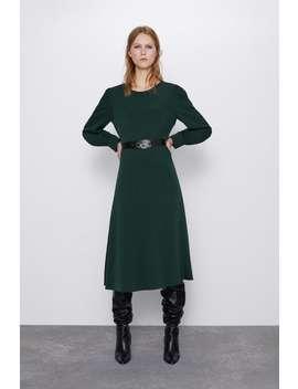 Creased Effect Dress by Zara