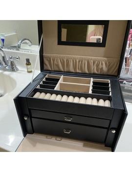 Black Jewelry Storage Carry Box   Like New by Depop