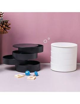 Case In Point   4 Layer Round Plastic Desk Organizer by Case In Point