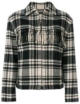 Wool Blend Plaid Jacket In Black/Cream by Polo Ralph Lauren