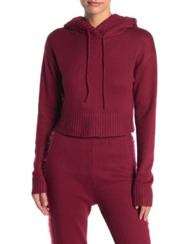 Cropped Knit Hoodie by Kendall + Kylie