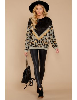 Wild Hearted Grey Multi Leopard Print Sweater by Moodie