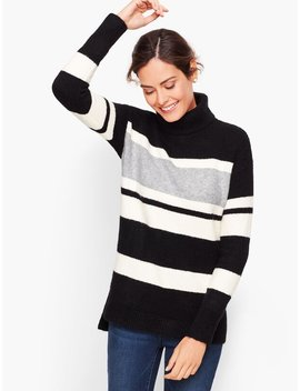 Fireside Stripe Turtleneck Sweater by Talbots