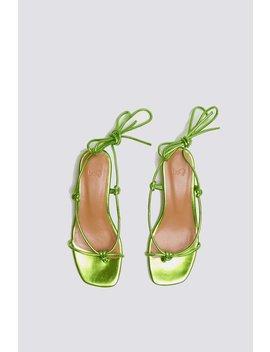 Loq Apple Dora Sandal   Green Metallic by Garmentory