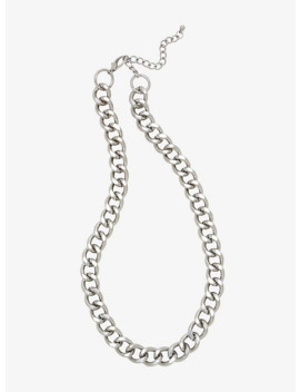 Silver Thick Chain Necklace by Hot Topic