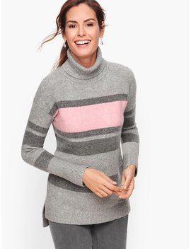 Fireside Stripe Turtleneck Sweater   Heathered by Talbots