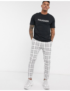 Pull&Bear Young Thug T Shirt With Angel Back Print In Black by Pull&Bear