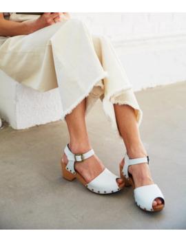 Lisa B. Peep Toe Clog   White by Garmentory