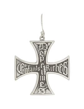 Silver Cross Earring by Enfants Riches DÉprimÉs