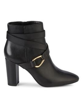 Addington Leather Booties by Lauren Ralph Lauren