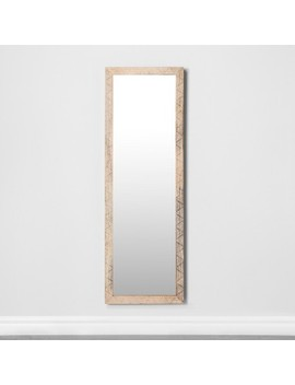 Carved Dot Natural Wood Floor Mirror   Opalhouse™ by Shop Collections