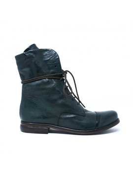P. Monjo Lace Up Boots   Green by Garmentory