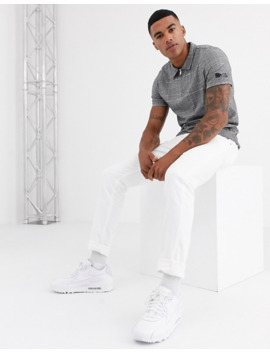 River Island Polo In Gray Check by River Island