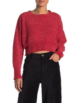 Chenille Round Neck Sweater by Double Zero