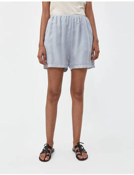 Cupro Short In Blue Grey by Amomento Amomento