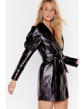 Too Much Is Faux Leather Enough Mini Dress by Nasty Gal