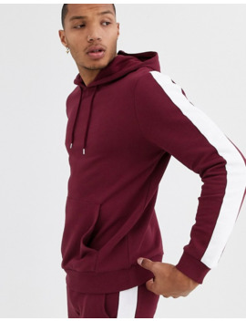 Asos Design Tracksuit With Hoodie & Side Stripe In Red by Asos Design