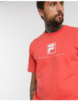 Fila Blade Archive Logo T Shirt In Red Exclusive At Asos by Fila Vintage