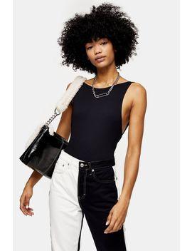 Black Scoop Back Bodysuit by Topshop