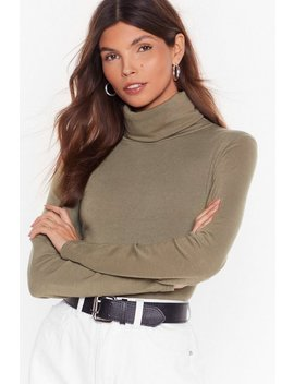 Soft Loopback Roll Neck Top by Nasty Gal