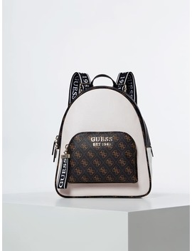 Haidee Logo Print Backpack by Guess