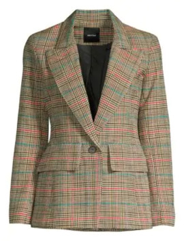 Multi Glen Check Blazer by Smythe