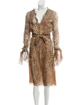 Silk Animal Print Dress by Valentino