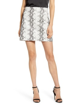 Cupcakes & Cashmere Ramona Snake Print Miniskirt by Cupcakes And Cashmere