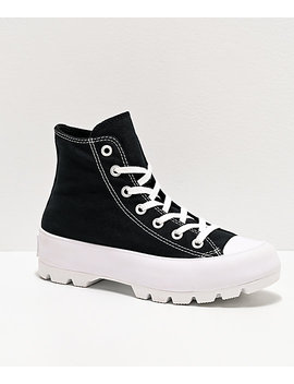 Converse Ctas Hi Black Lugged Shoes by Converse