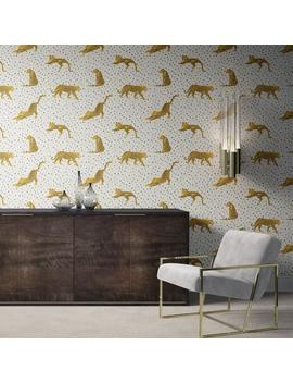 Tropical Removable Wallpaper. Leopard Wallpaper. Modern Wallpaper. Peel And Stick Wallpaper. Self Adhesive Wallpaper. 180 by Etsy