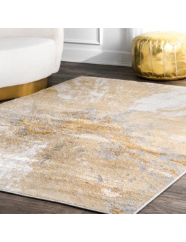 Carbon Loft Brendt Contemporary Modern Abstract Area Rug   9' X 12'   Beige by Carbon Loft