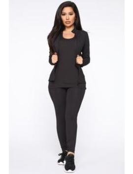 Jump To It Active Zip Jacket In Sculpt Tech   Black by Fashion Nova