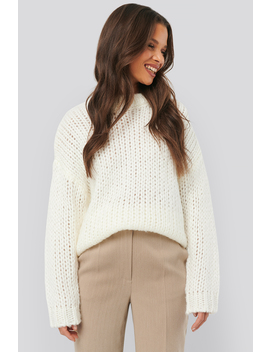 Heavy Knitted Sweater White by Na Kd Trend