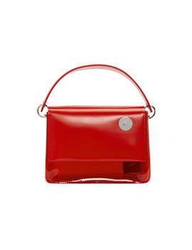 Red Pvc Baby Pinch Shoulder Bag by Kara