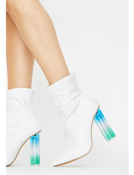 Angel In My Bag Ankle Boots by Dolls Kill