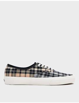 Plaid Mix Authentic Sneaker In Puritan Grey by Vans Vans
